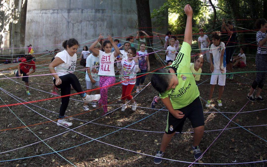 Niños rianxeiros contribuyen al diseño de un nuevo parque