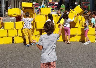 Transformando a cidade traballando con ELEMENTOS TRIDIMENSIONAIS