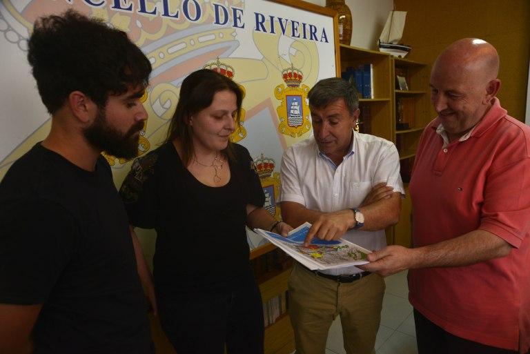 Ribeira – Cien chiquillos asisten a un taller de urbanismo que convertirá la ciudad en un campo de juegos