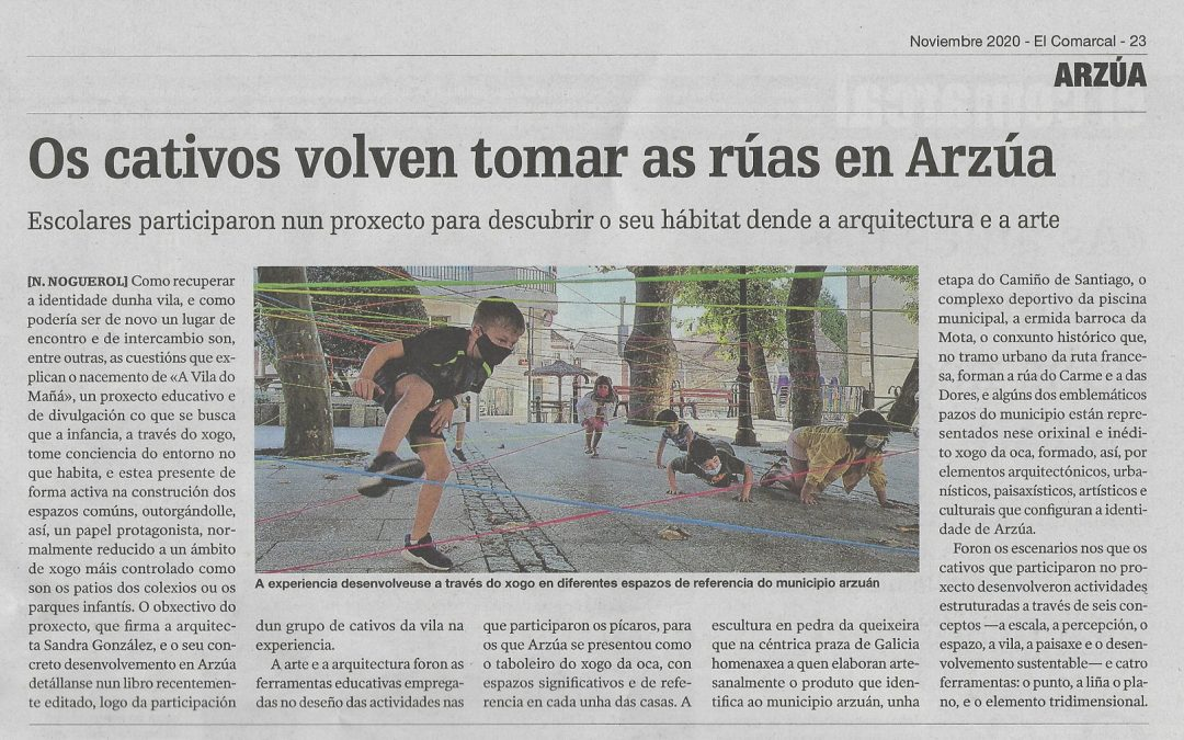 """Children take Arzúa's streets back again"""